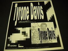 Tyrone Davis says Something Is Mighty Wrong Ichiban promo poster ad Mint