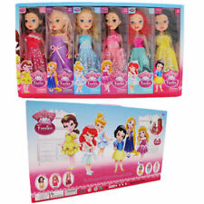 6 LARGE DISNEY PRINCESS ACTION FIGURES DOLL KIDS GIRL BABY PRETEND PLAY SET TOY