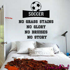 Soccer Game Quote wall decal sticker, inspirational lettering decor art M1596