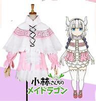 Kobayashi-san Chi no Maid Dragon  Kanna cosplay costume dress skirt -Free ship