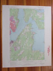 Bremerton East Washington 1969 Original Vintage USGS Topo Map