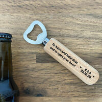 Wedding Favours For Friends Personalised Wooden Bottle Opener Wedding Decoration