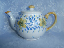SADLER TEAPOT HAND PAINTED STONEWARE SPRING YELLOW AND BLUE FLOWERS RARE PIECE