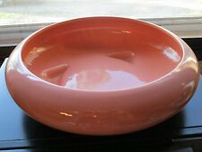 Vintage Haeger Pottery #8445 Glossy Pink Three Footed Bulb Bowl ~EVC~