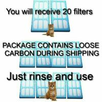 Carbon Water Filter Cartridges for Pet Cat Mate & Dog Mate Fountains 20 PACK