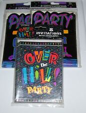 3 NEW IN PACKAGE OVER THE HILL BIRTHDAY INVITATIONS 24 COUNT CARDS