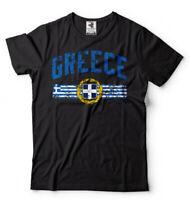 Greece T-shirt Greek National Flag Symbols Tee Shirt Ελλάδα Tee Shirt Mens Tee
