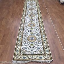 2.5'x12' Good Long Handmade Silk Oriental Carpets Hallway Stair Rugs Runner Y320