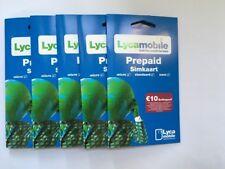 LYCAMOBILE ANONYME Prepaid Sim Karte ohne Registrierung Triple-Sim