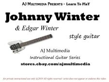 Custom Guitar Lessons, Learn Johnny Winter (& Edgar) - DVD Video