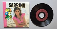 Ref628 Vinyle 45 Tours Sabrina ALL OF ME