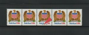 """US EFO, ERROR Stamps: #2602 Eagle Bird. PS5, #A12213 """"blue  dot"""" var. PNC MNH"""