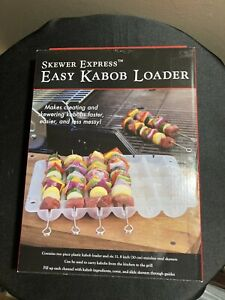 Skewer Prep Station with Stainless Skewer Express Easy Kabob Loader