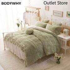 Princess Bedding Set Thick Fleece Warm Bed Set Duvet Cover Bed Skirt Pillowcases