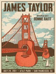 James Taylor with Bonnie Raitt Concert Poster Re print Pretty Home Decor Poster