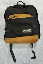 Vintage Outdoor Products Backpack Leather Bottom Long Life Seamlock Made In USA