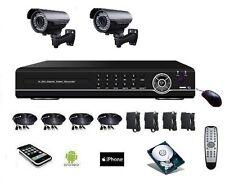 Camera surveillance 700 TVL longue portée avec zoom + DVR IP 4voies DD 500Go