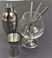 SHORT 12.5cm Straight Metal Drinking Straw Stainless Steel Reusable Straws