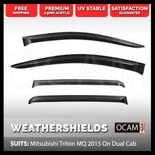 OCAM Weathershields For Mitsubishi Triton MQ 2015 On Dual Cab Window Visors