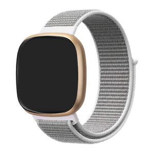 For Fitbit Versa 3 / Versa Sense Replacement Nylon Fabric Sport Watch Band Strap