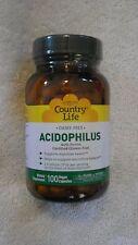 Country Life Dairy Free Acidophilus With Pectin 100 Vegan Capsules @
