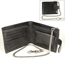 PT10 Leather Wallet with security chain police security