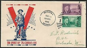 USA WW2 pictorial patriotic cover THE SPIRIT OF '76 CARRIES ON!
