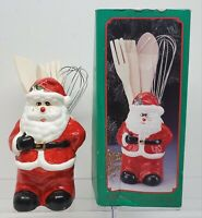 Vintage Windsor Japan  Christmas Santa Vase Kitchen Utensil Holder