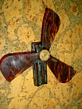1920's CELLULOID OPERA FAN / HAND ACTUATED / FRANCE / PURSE SIZE Vintage