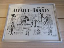 Fred Astaire & Ginger Rogers Lithograph SIGNED Dick Hodes