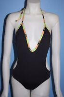 Tavik Alexa One Piece Swimsuit Black with Colored Trim Size Small