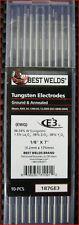 E3 1/8 X 7 GROUND TUNGSTEN ELECTRODES PKG/10 REPLACES 2% THORIARED TUNGSTEN