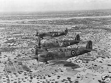 RAF Spitfires Over Djerba Island Tunisia World War 2, Reprint Photo 5.5x4 inches