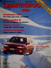 Quattroruote 495 1997 Opel Vectra SW, Poster allegato. Honda EV elettrica [Q.59]