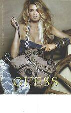 PUBLICITE ADVERTISING  2010  GUESS sacs bages hautes couture