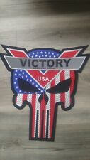 Victory Motorcycles USA -Reflective Punisher Skull PATCH
