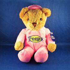 Peeps - Teddy Bear in Hooded Pajamas PJs - Pink - Plush - Easter - NEW