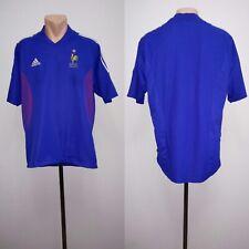 Football shirt soccer FC France Home 2002/2003/2004 Adidas jersey National Sz L