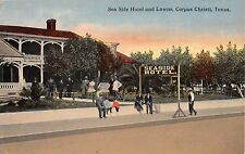 c.1910 Sea Side Hotel & Lawns Corpus Christi TX post card