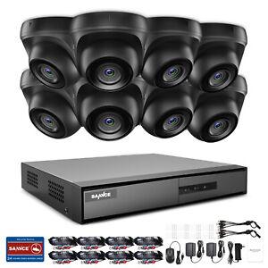 SANNCE 8CH/4CH 1080P HDMI DVR 3000TVL Security CCTV Camera System Night Vision