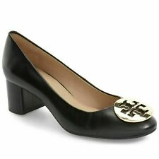 Tory Burch Hope 50MM Pump Black Soft Nappa Leather Heel Size 9 $278