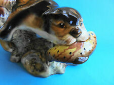 VINTAGE LARGE SYLVAC OTTER WITH TROUT
