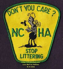 LMH Patch Badge NCHA FCRV Campers Hikers STOP LITTERING Litter Bug  DO YOU CARE?