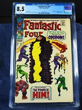Fantastic Four #67, CGC 8.5, WHITE pages, 1967, first HIM.