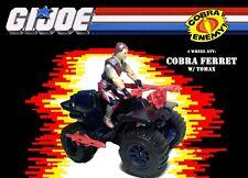GI Joe 1985 Cobra Ferret ATV  & Tomax figure  Dark Blue version