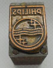 Vintage Printing Letterpress Printers Block Philips Logo