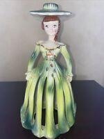 Vintage Lady Napkin Holder Kreiss Green