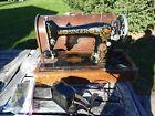 Vintage Singer Sewing Machine Model 66 PARTS REPAIR  Bent Wood Case  AS IS