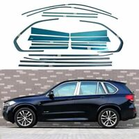 Full Windows Molding Trim Decoration Strips w/ Center Pillar For BMW X5