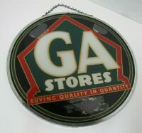 GA STORES ROG GROCERY STORE ADVERTISING SIGN REVERSE ON GLASS 2 SIDED *A2PS